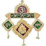 Jaipuri haat Metal Ganesh Om Subh Labh Door Hanging