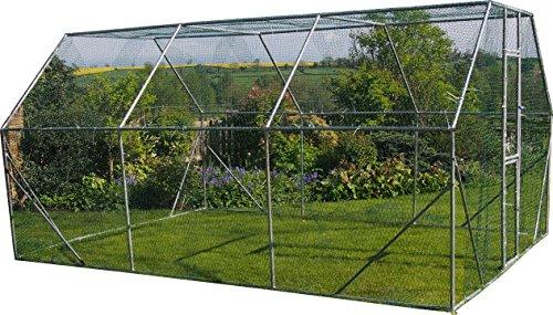 FeelGoodUK Freilaufgehege für Hühner, Kaninchen, Hasen, Meerschweinchen / Hühner Laufstall 4M X 3M X 2M - Für Geflügel, Kaninchen, Hasen, Hühner - Metallstift zum verschließen -