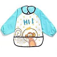 oral-q Bambini Bambino Impermeabile Play–Grembiule pittura, cottura, cucina, età, taglia 2–4anni & # xFF08; colore: giallo, blu, nero & # xFF09;