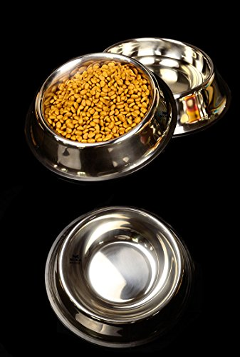 Dog-Bowl-The-CROODS-32-Ounce-Stainless-Steel-Dog-Bowls-with-Non-Slip-Base-Long-Dog-Food-Bowl-Dog-Dish-with-Handing-HoleSet-of-2