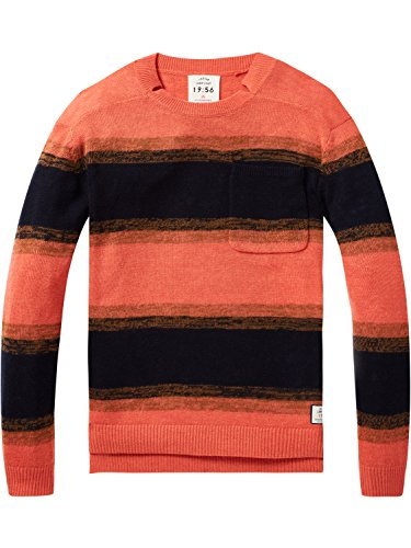 Scotch & Soda Herren Pullover Oversized Crew Neck Knit with Dropped Shoulder in 100% Wool, Mehrfarbig (Combo C 19), XX-Large (Wolle Combo)