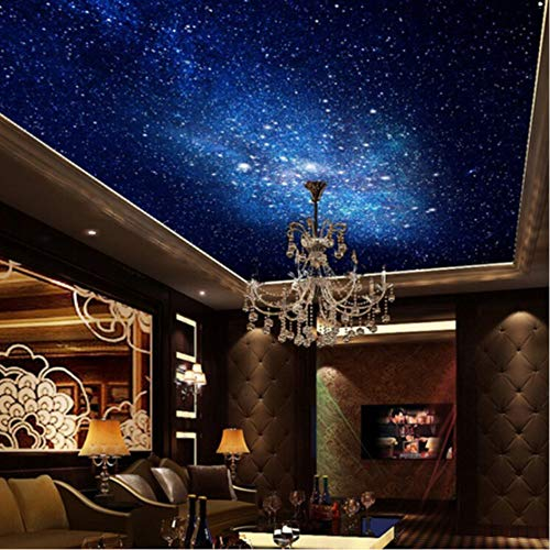 Hwhz Mural Personalizado 3D Estrella Nebulosa Cielo Nocturno Pintura Mural Techo Papel Tapiz De La Varicela Sofá Tv Fondo Galaxy Foto Papel Tapiz C-120X255Cm