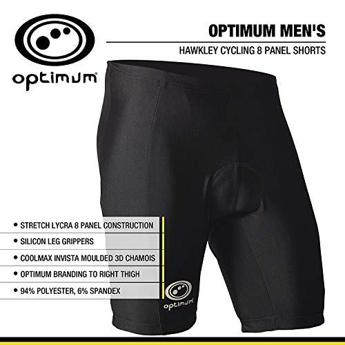 OPTIMUM Kurze Herren-Radhose, Größe 54 L schwarz - schwarz (Lycra-radhose 8 Panel)