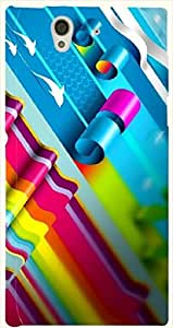 Stunning multicolor printed protective REBEL mobile back cover for Sony Xperia Z L36h D.No.N-L-12585-S36
