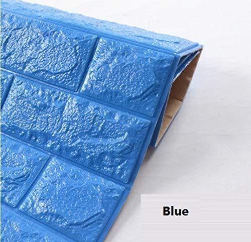 hensive 3D Brick Wandaufkleber Wohnzimmer Dekor Schaum Wasserdichte Wandverkleidung Tapete Für Tv Hintergrund ()