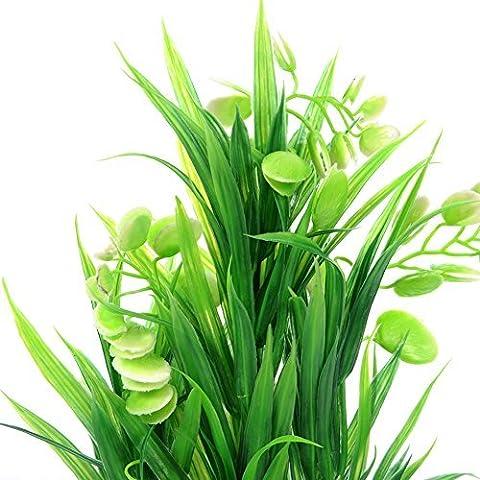Künstliche Wasserpflanze Wasser Pflanze Aquarium Dekorationen FISCH Tank Ornament von lsv-8grün (Pflanzen Aquarium Ornament Dekoration)