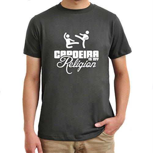 Maglietta Capoeira is my religion Argento brunito