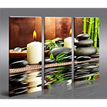 Cuadro en Lienzo Zen Stones 3p Impresión sobre lienzo - Formato Grande 3 Partes - Impresion en calidad fotografica