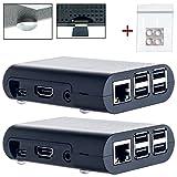 Doppelpack: 2x Electronic Alps Premium Gehäuse SET für Raspberry Pi 3 mit Videokurs und Gummifüßen | auch für Raspberry Pi 2 Modell B