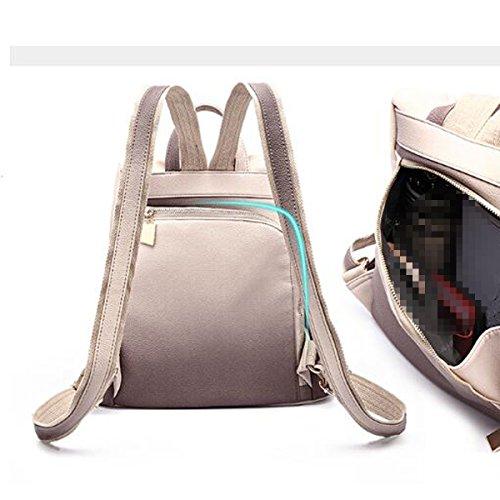 PU-Leder-Rucksack Der Frauen Beiläufige Art- Und Weiseweichleder-Doppelt-Schulter-Beutel-Farbverlaufs-diebstahlsichere Schultasche Brown