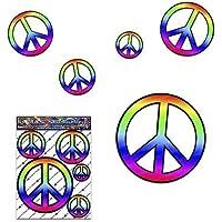 Friedenszeichen-Abziehbild Aufkleber-Satz für Auto-LKW-Wohnwagen - ST00022_SML - JAS Aufkleber