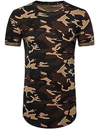 ZhiYuanAN Homme Polo Shirt De La À Manche Courte Casual T-Shirt De Lignes Fines Imprimées Taille Grande Chemise Polo Avec Le Bouton Up Noir XL Pikw0