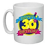 tazza mug 8x10 scritta happy birthday 30 anni idea regalo uomo donna compleanno by pazza idea