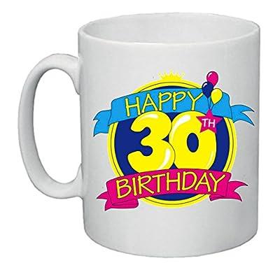 Tazza Mug 8x10 Scritta Happy Birthday 30 Anni Idea Regalo Uomo Donna
