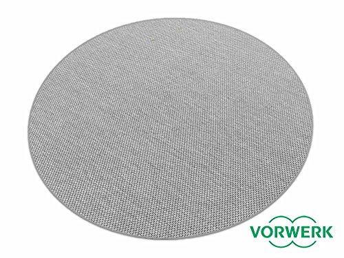 HEVO Benny grau Dänisches Flachgewebe Teppich | Kinderteppich | Spielteppich 200 cm Ø Rund