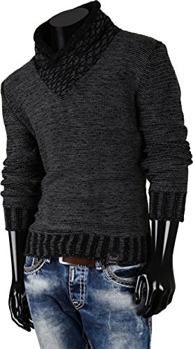 TAZZIO pull sweat-shirt pour homme Anthracite