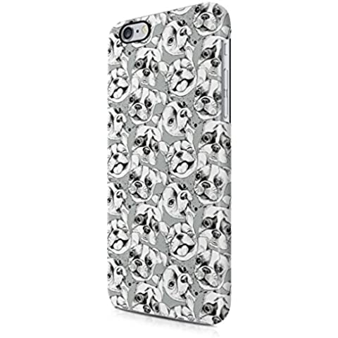 Cute Little Dog Head Pattern Apple iPhone 6 / iPhone 6s Snap-On Hard Plastic Protective Shell Case Cover