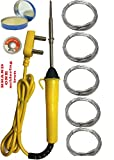 #7: Brand one 25 w high quality flat type tip soldering iron kit with 5 solder wire 1 paste and 1 disolder