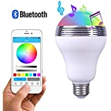 Cyber Express Electronics - Smart Ampoule LED RGB Bluetooth 4W E27 Enceinte Sans Fil Musique Contrôle à distance Changement de Couleur App Smartphone Android Iphone IOS