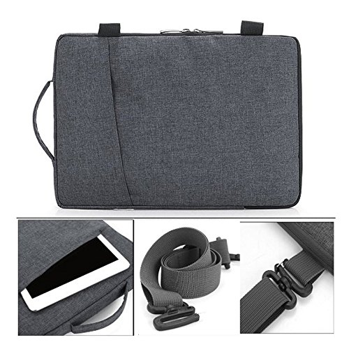 frixie (TM) Tablet portatile multifunzionale Business Valigetta astuccio con manico e tracolla per Macbook Air Pro 13 pollici Grey Dark Grey