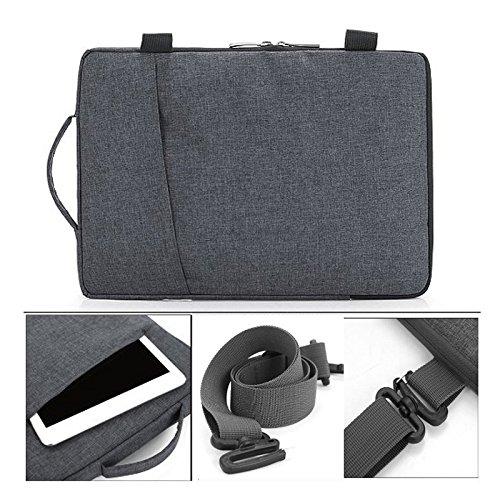 frixie (TM) Tablet portatile multifunzionale Business Valigetta astuccio con manico e tracolla per Macbook Air Pro 13pollici Grey Dark Grey