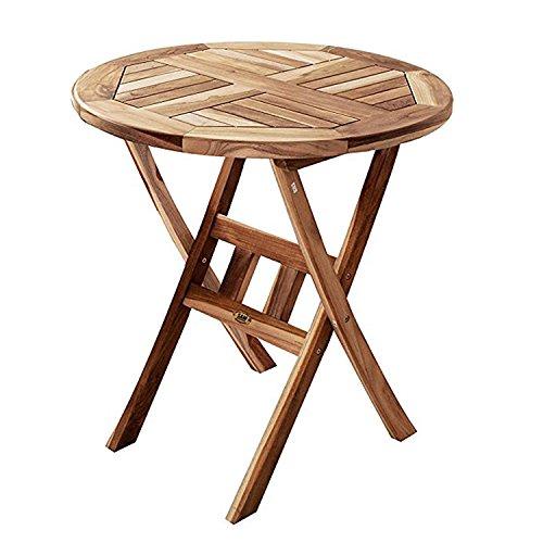 SAM® Teak-Holz Romario Balkontisch, Gartentisch, klappbar aus Massivholz