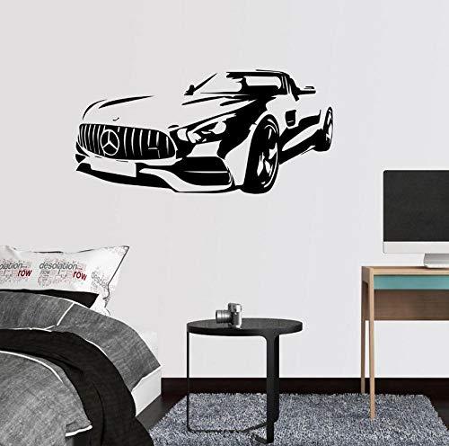 Wandaufkleber Art Decor AMG Roadster Quote Wandaufkleber Aufkleber Jungenzimmer Games Bar für Kinderzimmer Wohnzimmer Schlafzimmer Wandbild 85x46cm