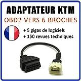 MISTER DIAGNOSTIC Adapter OBD2 auf KTM 6 Wege – Tune ECU – kompatibel mit Motorrädern KTM TuneECU