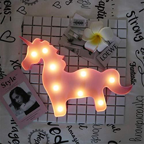QiXian Lumière de Nuit Licorne Tête Accessoires Table Lampe Mignon Chambre de Style pour Enfants Lumière de Nuit Rêve Tenture Murale Tir LED Lumières Décoratives
