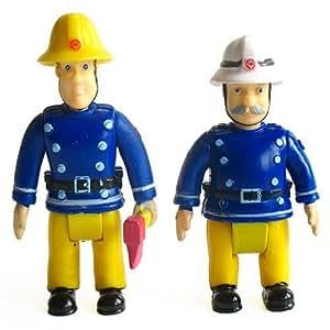 ouaps sam le pompier set 2 figurines sam hache et commandant steele jeux et jouets. Black Bedroom Furniture Sets. Home Design Ideas
