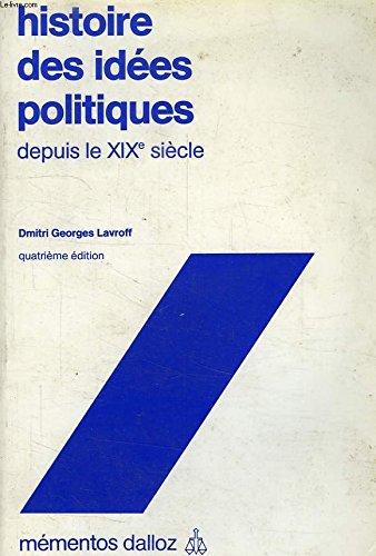 Histoire des idées politiques depuis le XIXe siècle par Dmitri Georges Lavroff