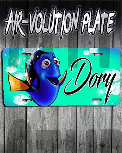 Mythic Airbrush Personalisierte Airbrush Dory Findet Nemo License Plate Tag (Nemo Thema Finding)