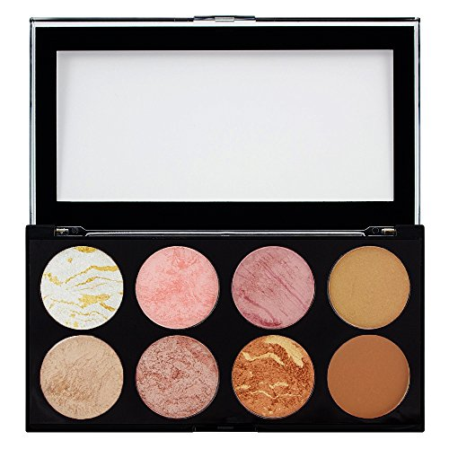 Makeup Revolution Paleta de coloretes y contorno Ultra Golden Sugar