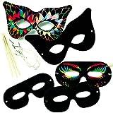 Kratzbild-Masken - Kratzbilder in verschiedenen Maskenformen für Kinder zum Gestalten