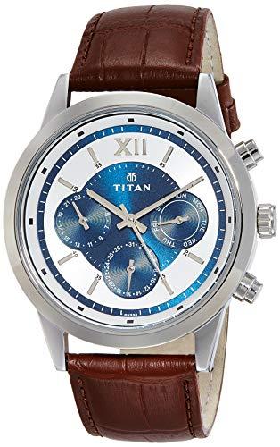 Titan Neo Analog Blue Dial Men's Watch - 1766SL03