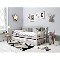 Noa and Nani - Isabella Single Day Bed with Pullout Trundle - (Silk Grey)