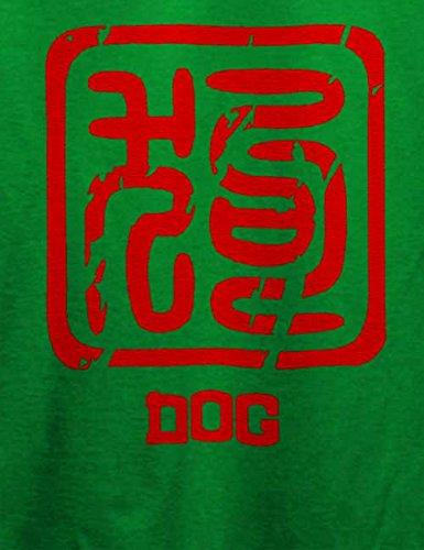 Chinese Signs Dog T-Shirt Grün