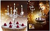 Hoobbe Bling Kerzenständer für Kuchen inkl. Kerzen