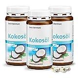 Sanct Bernhard Kokosöl-Kapseln, 500 mg reines Bio-Kokosöl, 3 x 240 Stück
