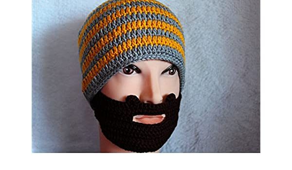8546753adf9 Men Women Hat Crochet Beard Beanie Mustache Mask Face Ski Winter Knit Hat  Cap  Amazon.co.uk  Kitchen   Home