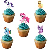 #6: Party PROPZ My Little Pony Cup Cake Topper Set of 14/ My Little Pony Party Supplies/ My Little Pony Party Decoration
