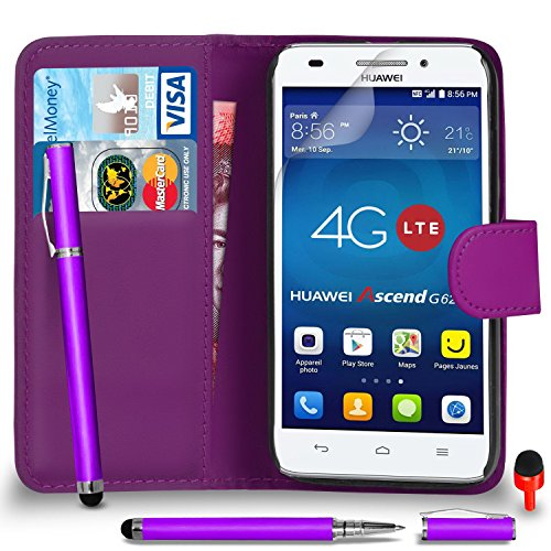 huawei-ascend-g620s-premium-leather-dark-purple-wallet-flip-case-cover-pouch-2-in-1-ball-pen-touch-s