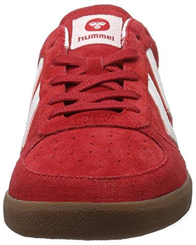 Hummel Victory, Scarpe da Ginnastica Basse Unisex – Adulto Rosso (Ribbon Red)