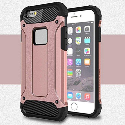 """iPhone 6S Plus Coque, AOFad iPhone 6 Plus Case Mince Protection des lourds 2-à-1 Argent TPU Avec 11 Colors Urban-Knight Accessoires Série Pour Femme Homme 5.5"""" I636 AOFad B318"""