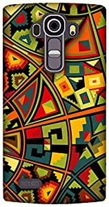 The Racoon Grip printed designer hard back mobile phone case cover for LG G4. (tribal kal)