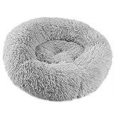 Dyda6 Coussin en Polaire Artificielle pour Animal Domestique et Chats de Petite Taille en Forme de Donut pour l'hiver et la Chaleur