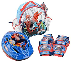 Ultimate Spiderman- Set con Mochila, Casco y Protecciones (Saica 9420)