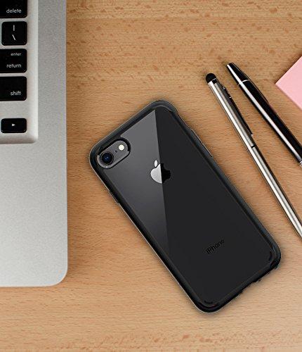 iPhone 8 / 7 Hülle, Spigen® [Ultra Hybrid 2] iPhone 8 Hülle, Verstärkter Kamera- und Buttonschutz [Crystal Clear] Zweite Generation des Ultra Hybrids Einteilige Transparent Handyhülle Durchsichtige PC UH2 Schwarz