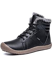 AFFINEST Winterschuhe Herren Stiefeletten hoch mit Warm Gefütterte Wasserdicht Rutschfest mode Winter Outdoor Schneestiefel Boots