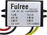 Küssen U DC-Abwärtswandler 15V-55V 24V 36V 48V bis 12V Spannungsregler Stromversorgungsmodul für die Car Audio Monitor-Motor (DC12V 2A)